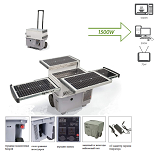 Мобильная солнечная электростанция удобно практично, электричество всегда доступно.