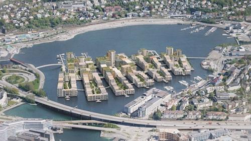 В норвежском городе будет возведен энергонезависимый инновационный район прямо посреди озера
