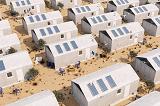 Французские архитекторы предложили строить экодома из бетонного текстиля с солнечными панелями
