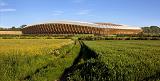 Построен эко стадион из дерева