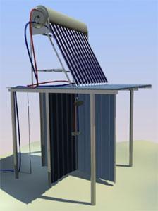 Душевая кабина с солнечным коллектором