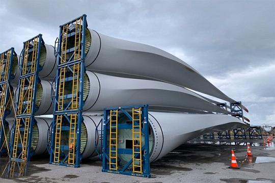 утилизации лопастей ветряных турбин