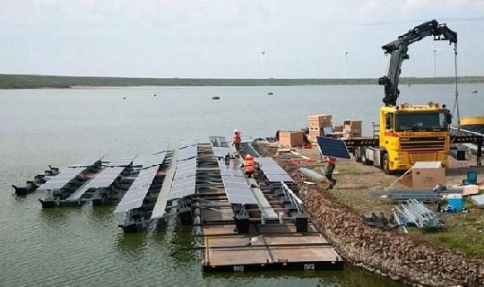 уникального архипелага островов  из солнечных электростанций