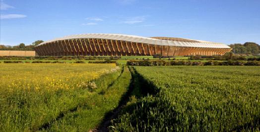 эко стадион из дерева